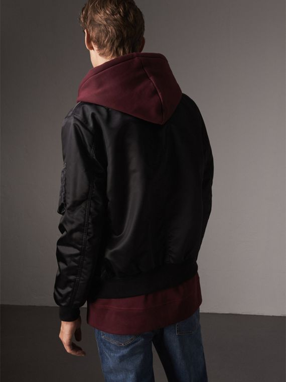 Point Collar Bomber Jacket in Black - Men | Burberry United Kingdom - cell image 2