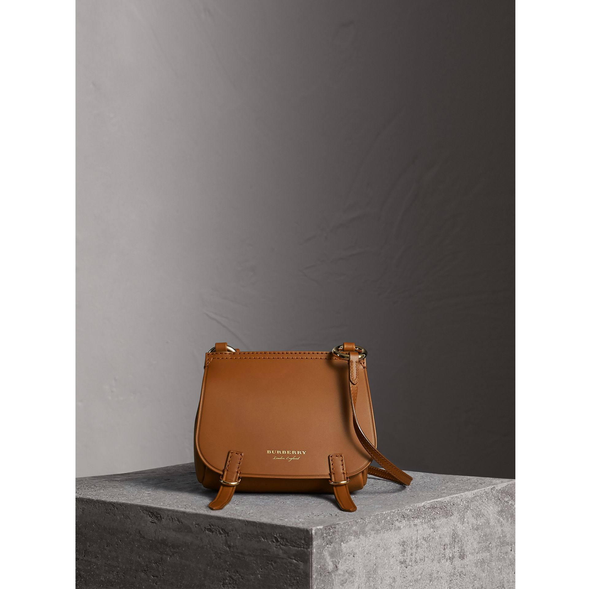 The Baby Bridle Bag in Leather in Tan - Women | Burberry - gallery image 7