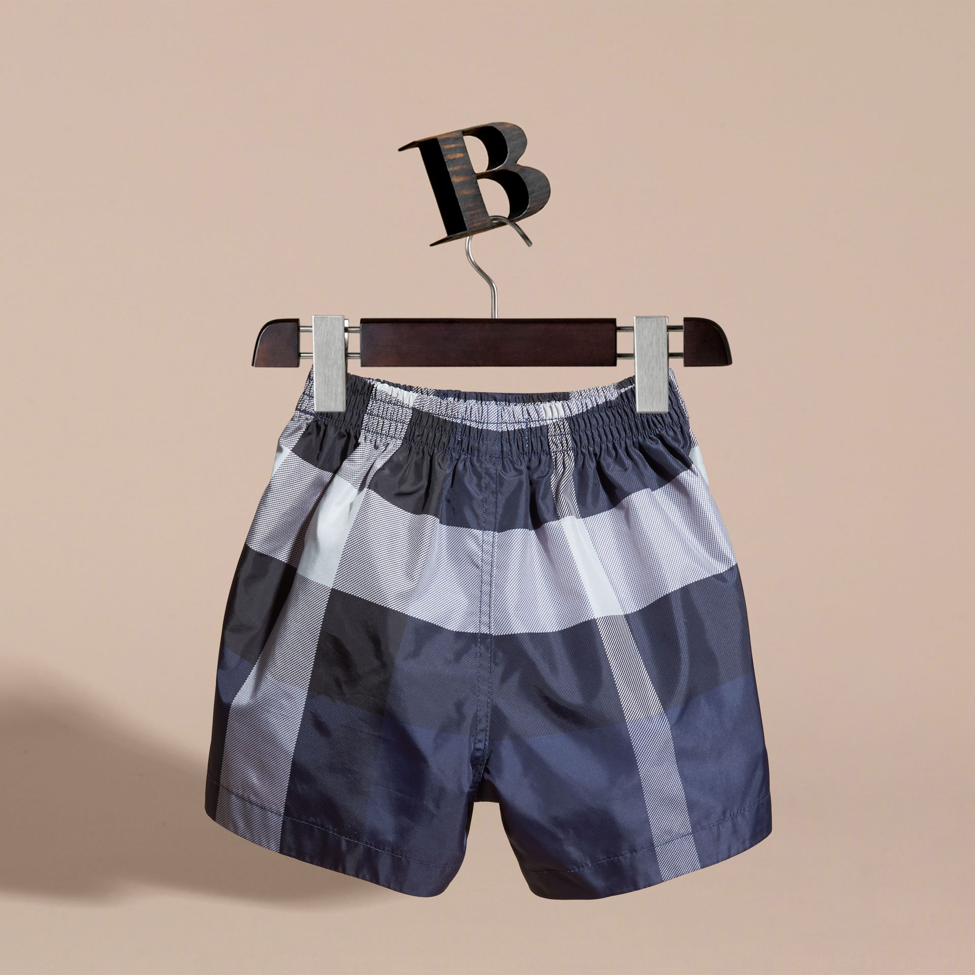 Check Technical Swim Shorts in Ink | Burberry - gallery image 4