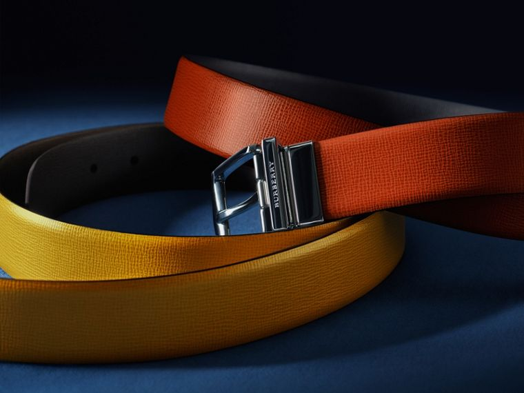 Burnt sienna/black Reversible London Leather Belt Burnt Sienna/black - cell image 4