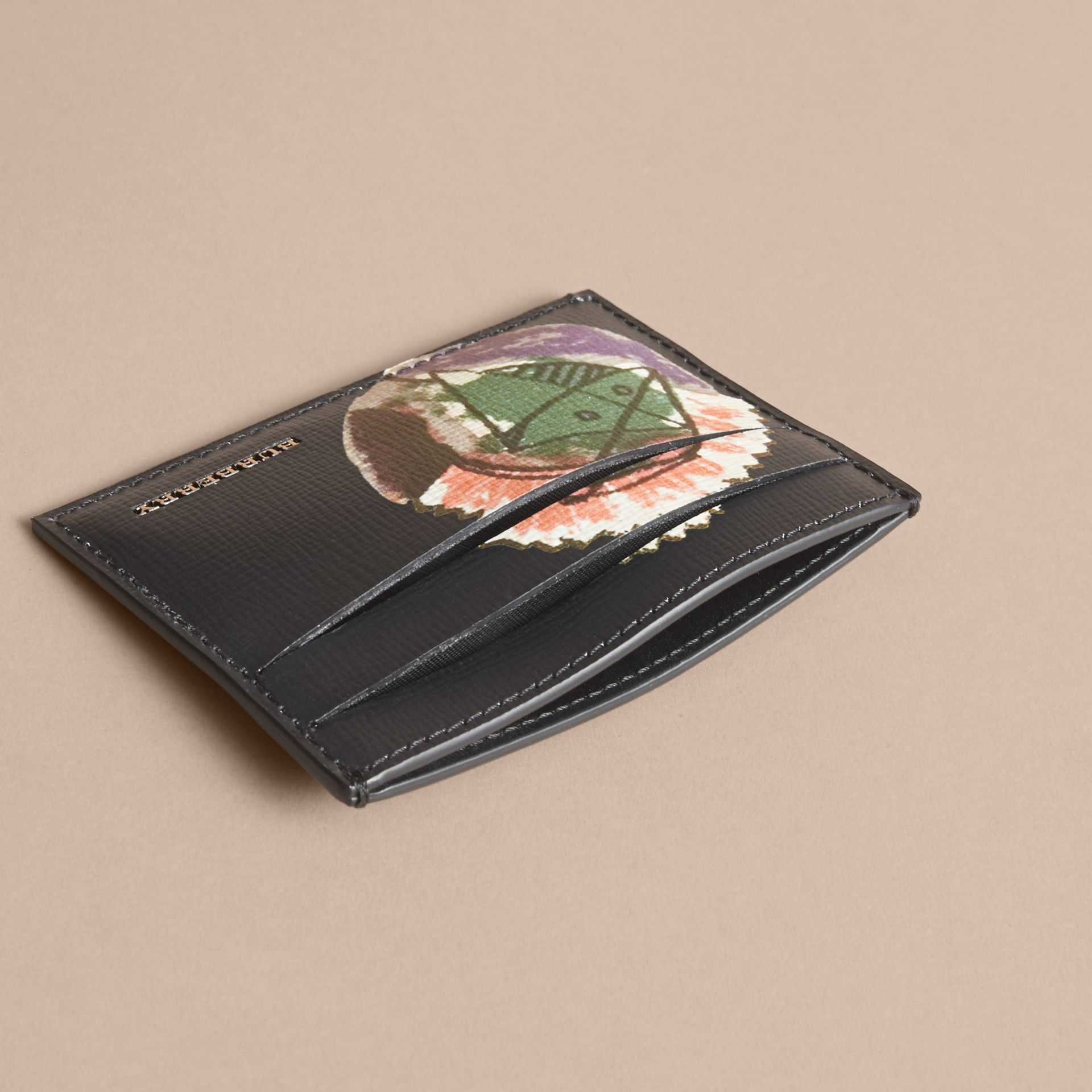 Pallas Heads Print Leather Card Case - gallery image 4