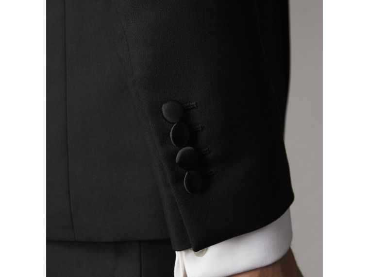 Slim Fit Wool Mohair Half-canvas Tuxedo in Black - Men | Burberry - cell image 4