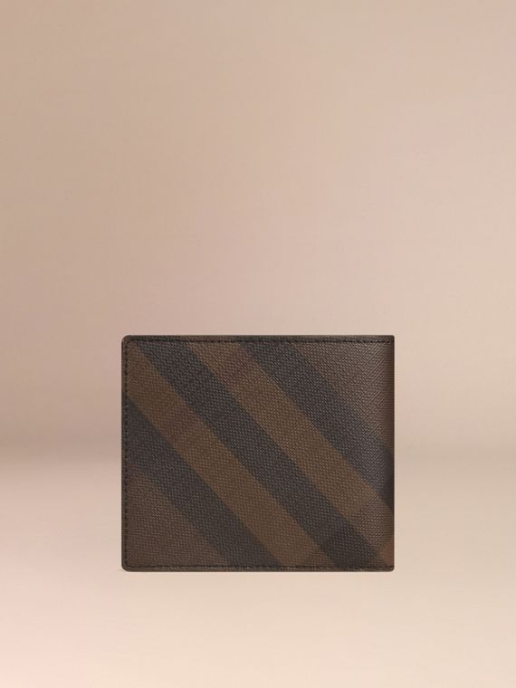 London Check ID Wallet in Chocolate/black - cell image 2