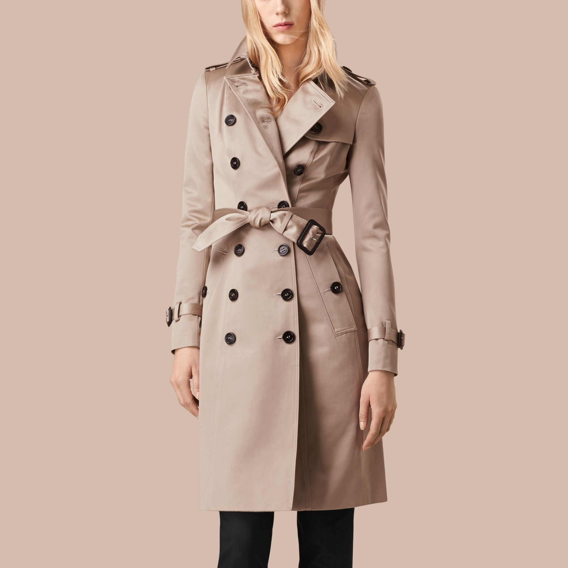 Trench Cotton Sateen Trench Coat - gallery image 5