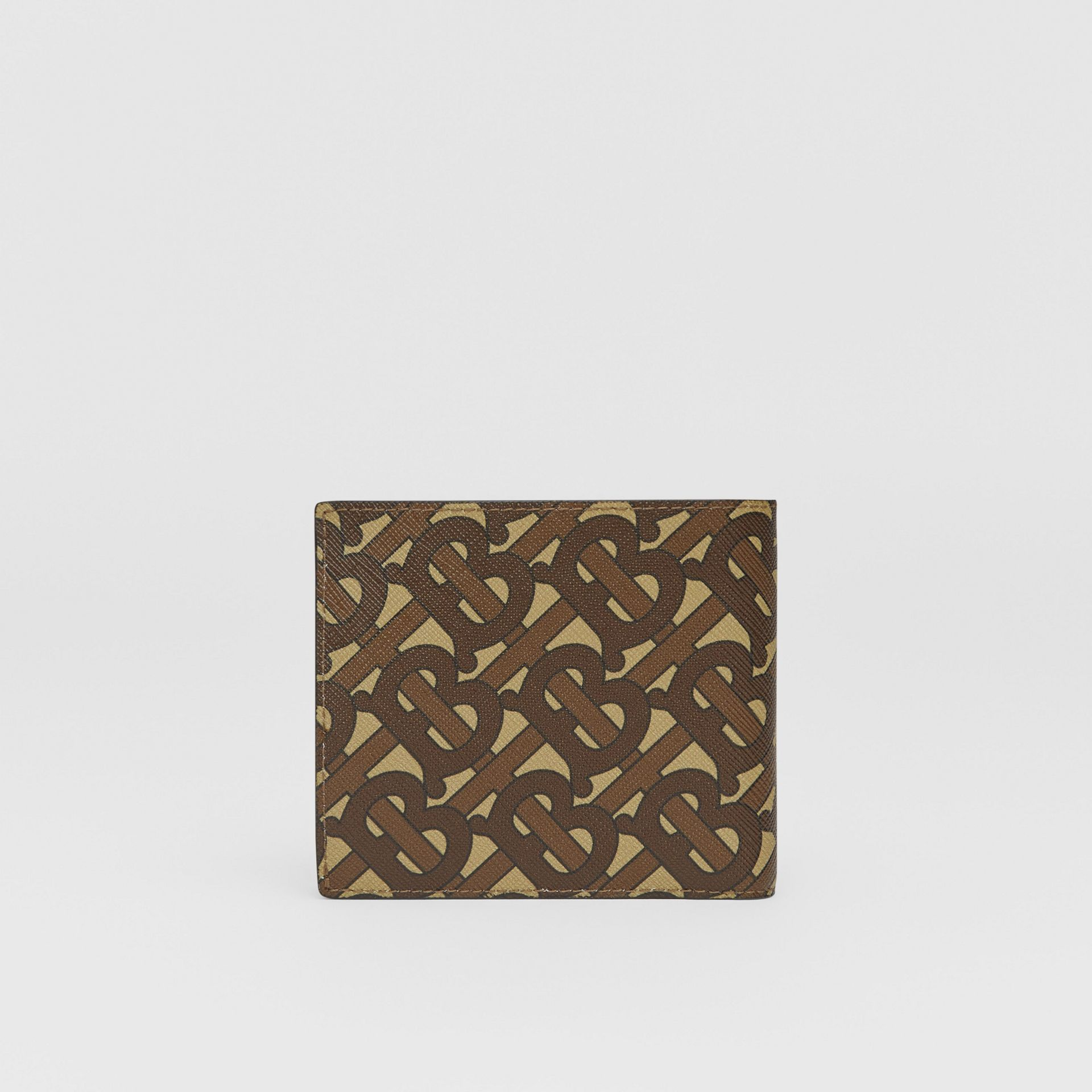 Monogram E-canvas International Bifold Coin Wallet in Bridle Brown - Men | Burberry Australia - gallery image 4