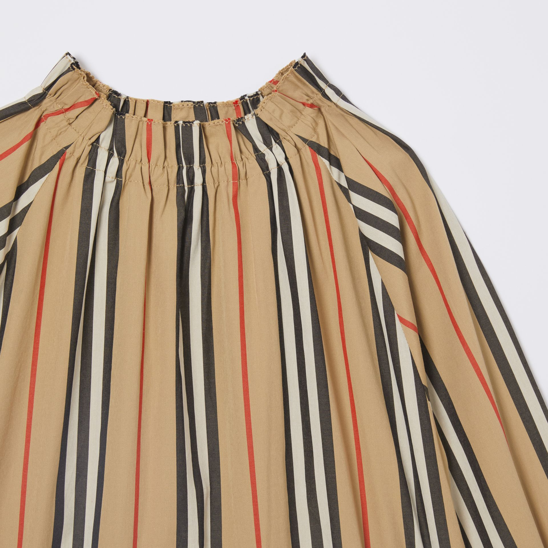 Icon Stripe Cotton Poplin Dress in Archive Beige | Burberry - gallery image 4