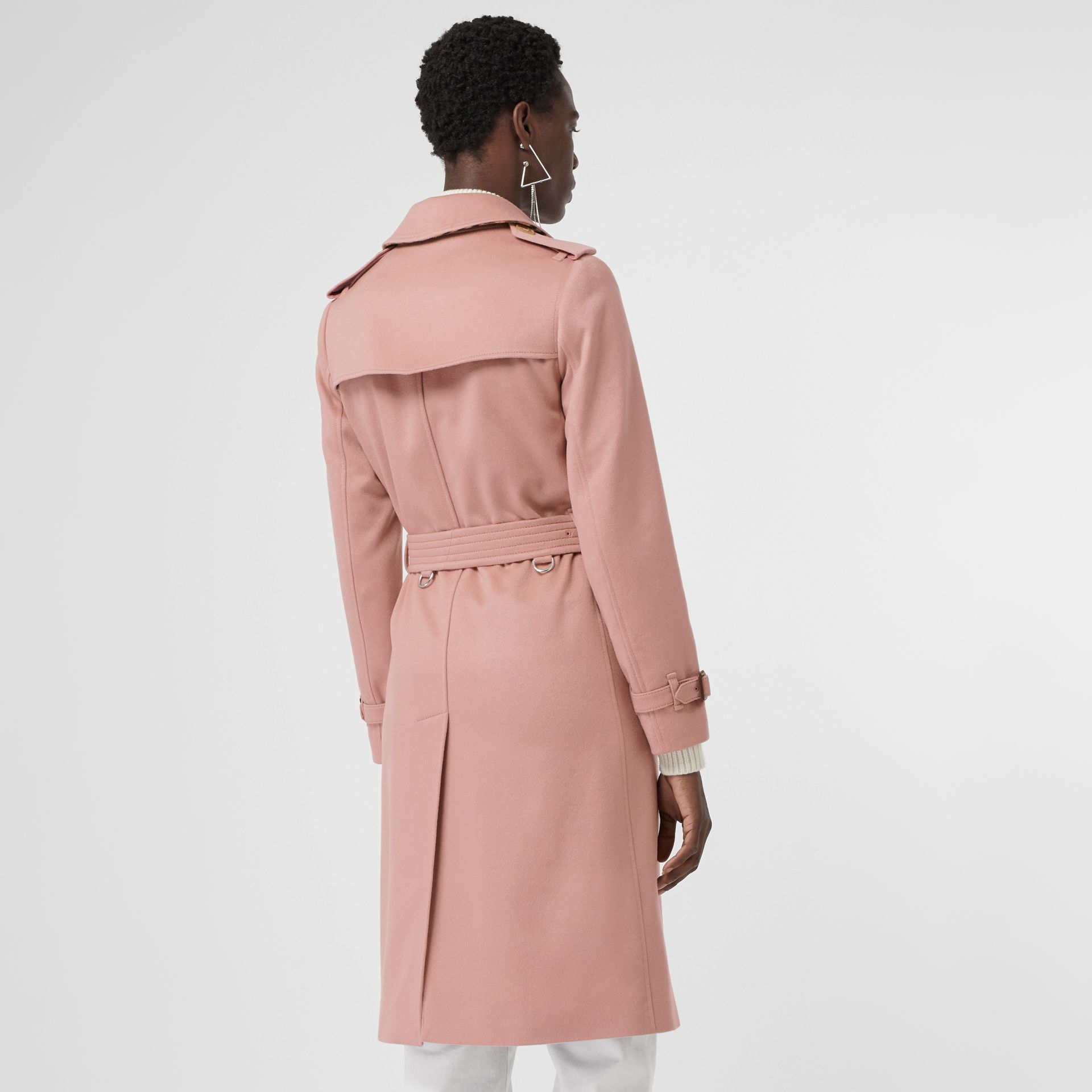 Cashmere Trench Coat in Chalk Pink - Women | Burberry Canada - gallery image 2