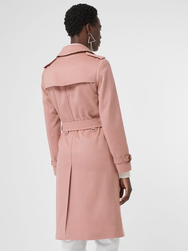 Cashmere Trench Coat in Chalk Pink - Women | Burberry - cell image 2