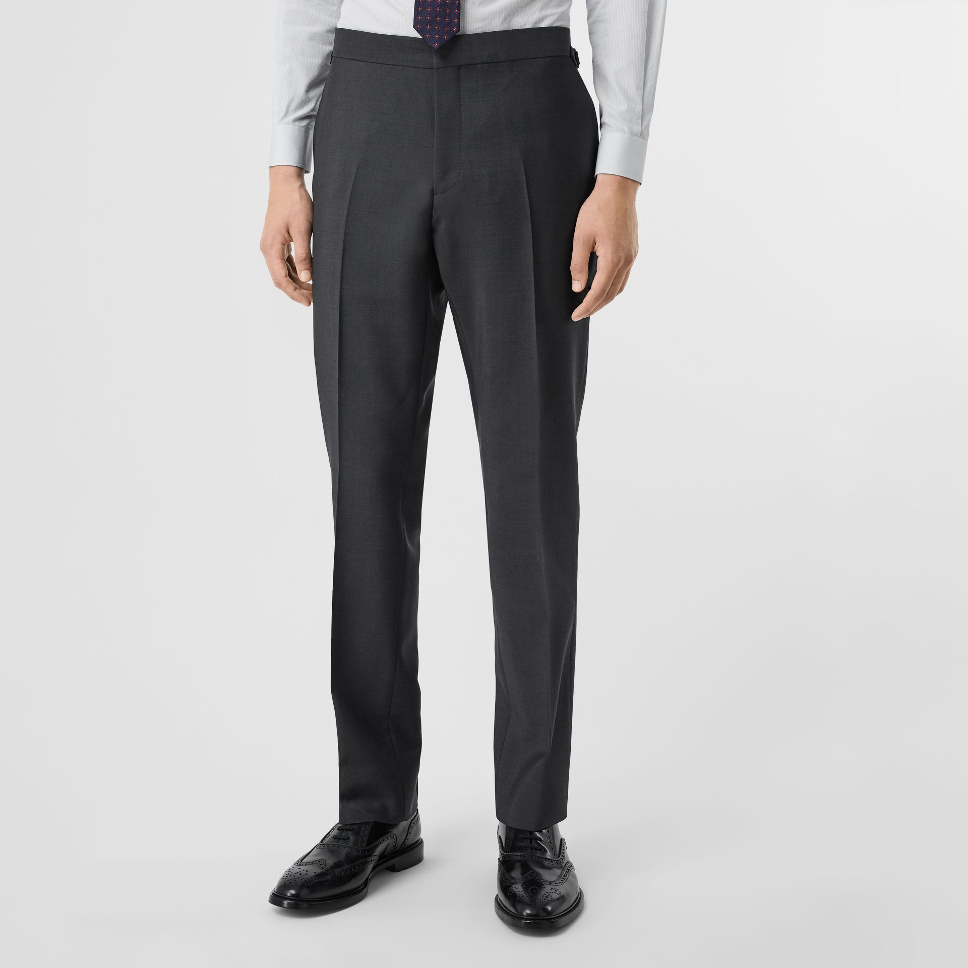 Classic Fit Wool Mohair Suit in Dark Grey - Men | Burberry Canada - gallery image 6
