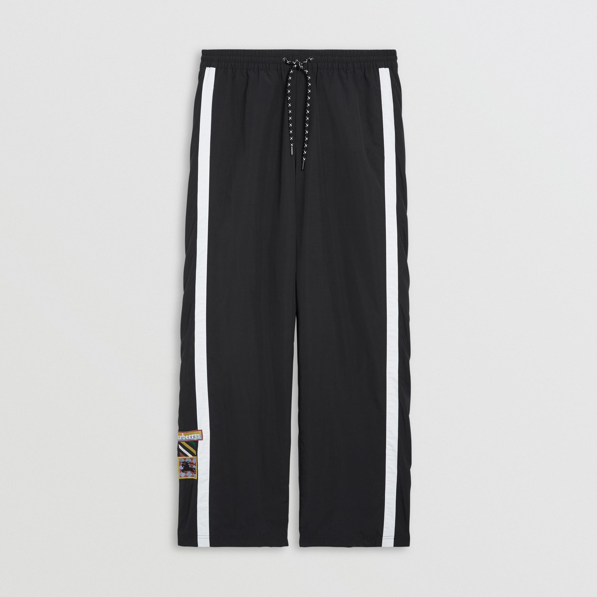 Sport Stripe Jersey Trackpants in Black - Men | Burberry - gallery image 3