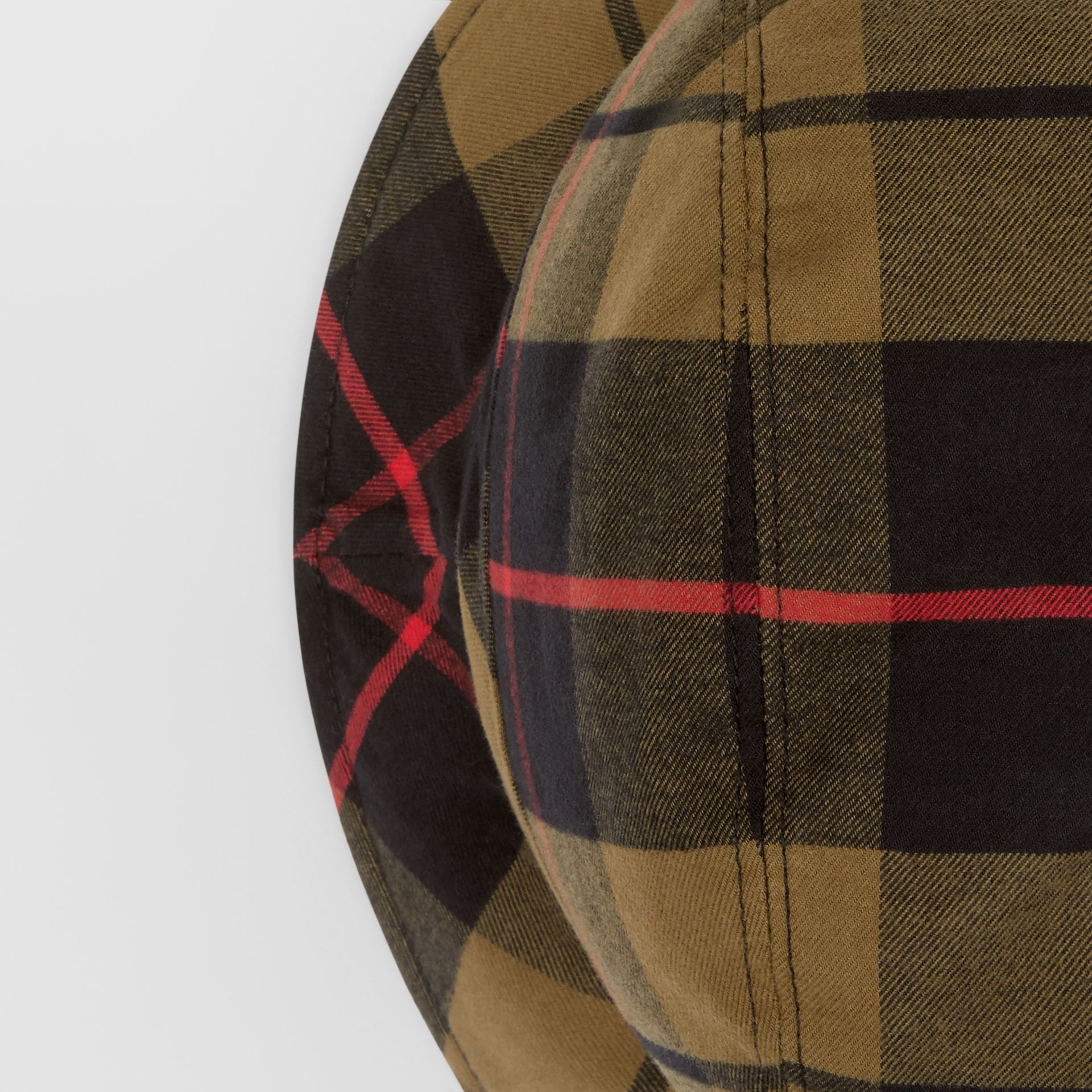 Reversible Monogram Motif Bucket Hat in Military Olive | Burberry Singapore - gallery image 7