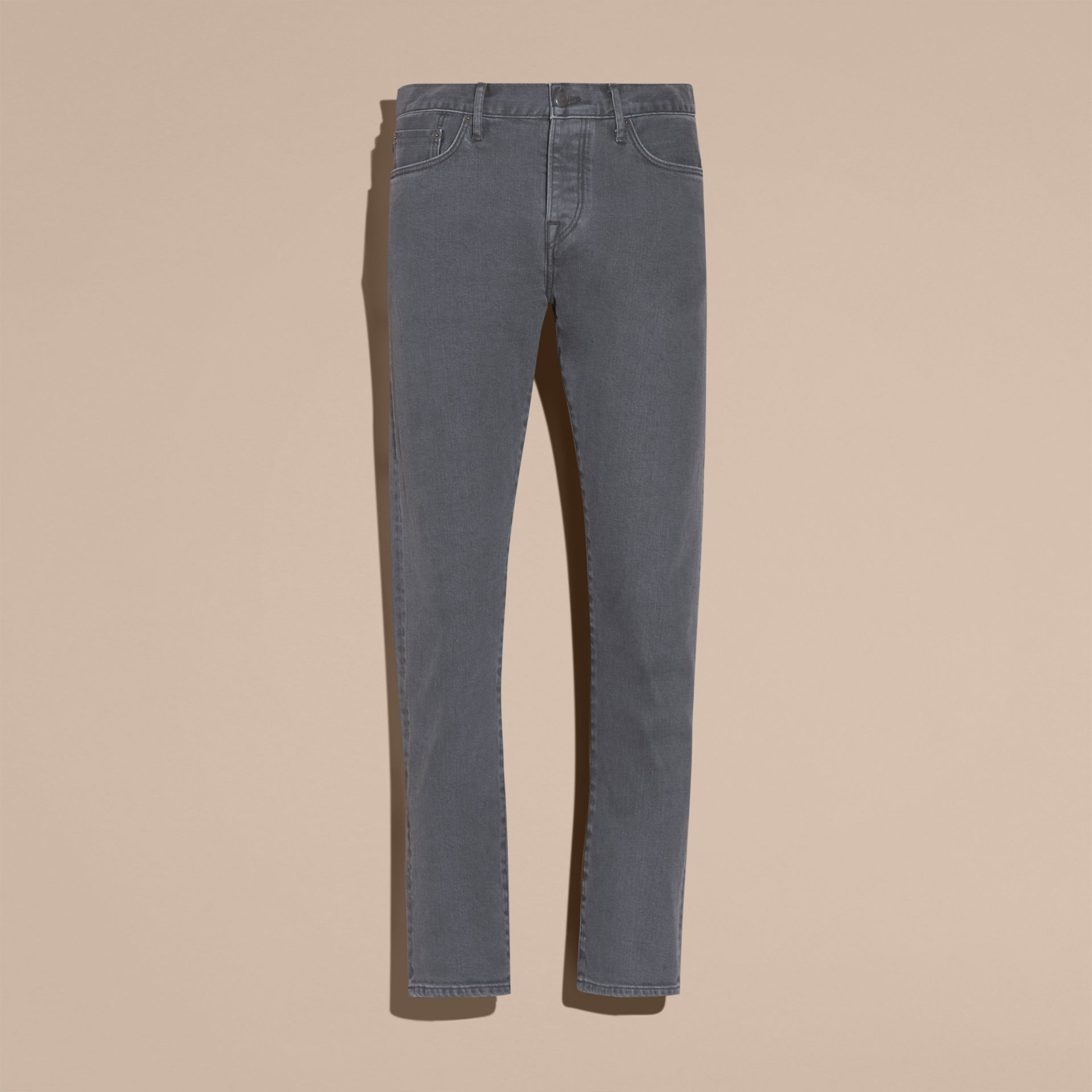 Jean de coupe droite en denim selvedge japonais - Homme | Burberry - photo de la galerie 4