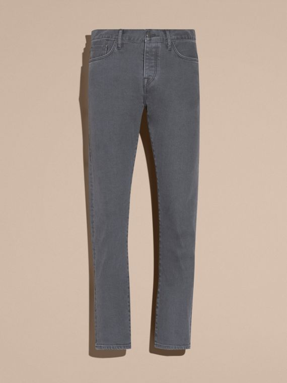 Dark grey Straight Fit Japanese Selvedge Denim Jeans - cell image 3