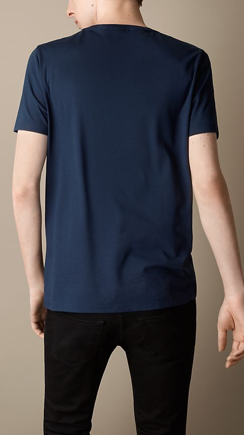 Navy Liquid-soft Cotton T-Shirt - Image 2