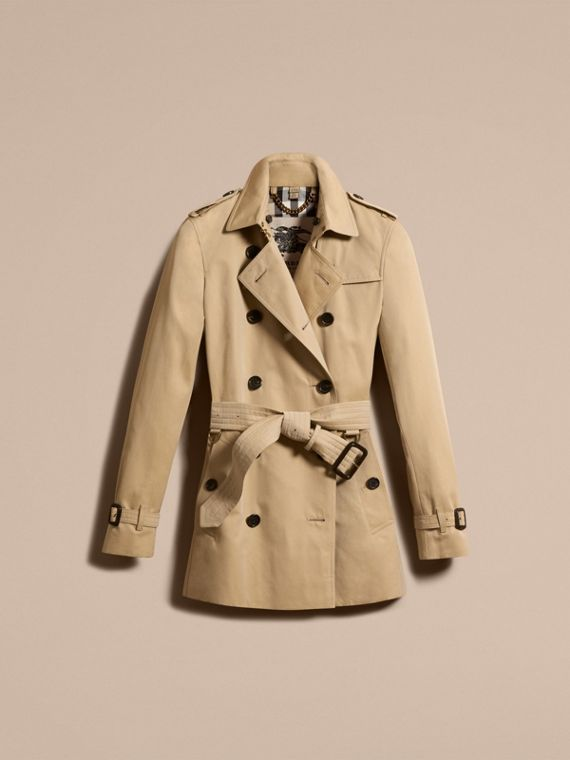Honey The Kensington – Short Heritage Trench Coat Honey - cell image 3