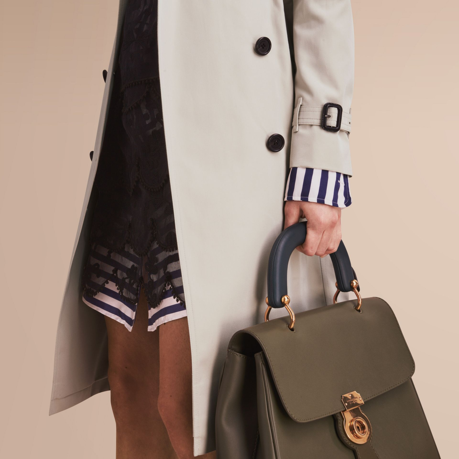 The Kensington – Extra-long Heritage Trench Coat in Stone - gallery image 5