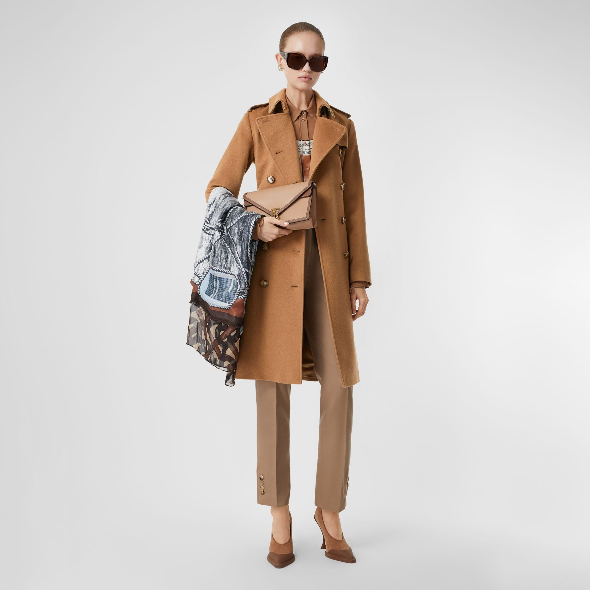 Cashmere Trench Coat in Bronze - Women | Burberry United Kingdom - gallery image 6