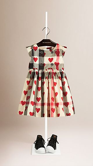 Hearts and Check Cotton Dress