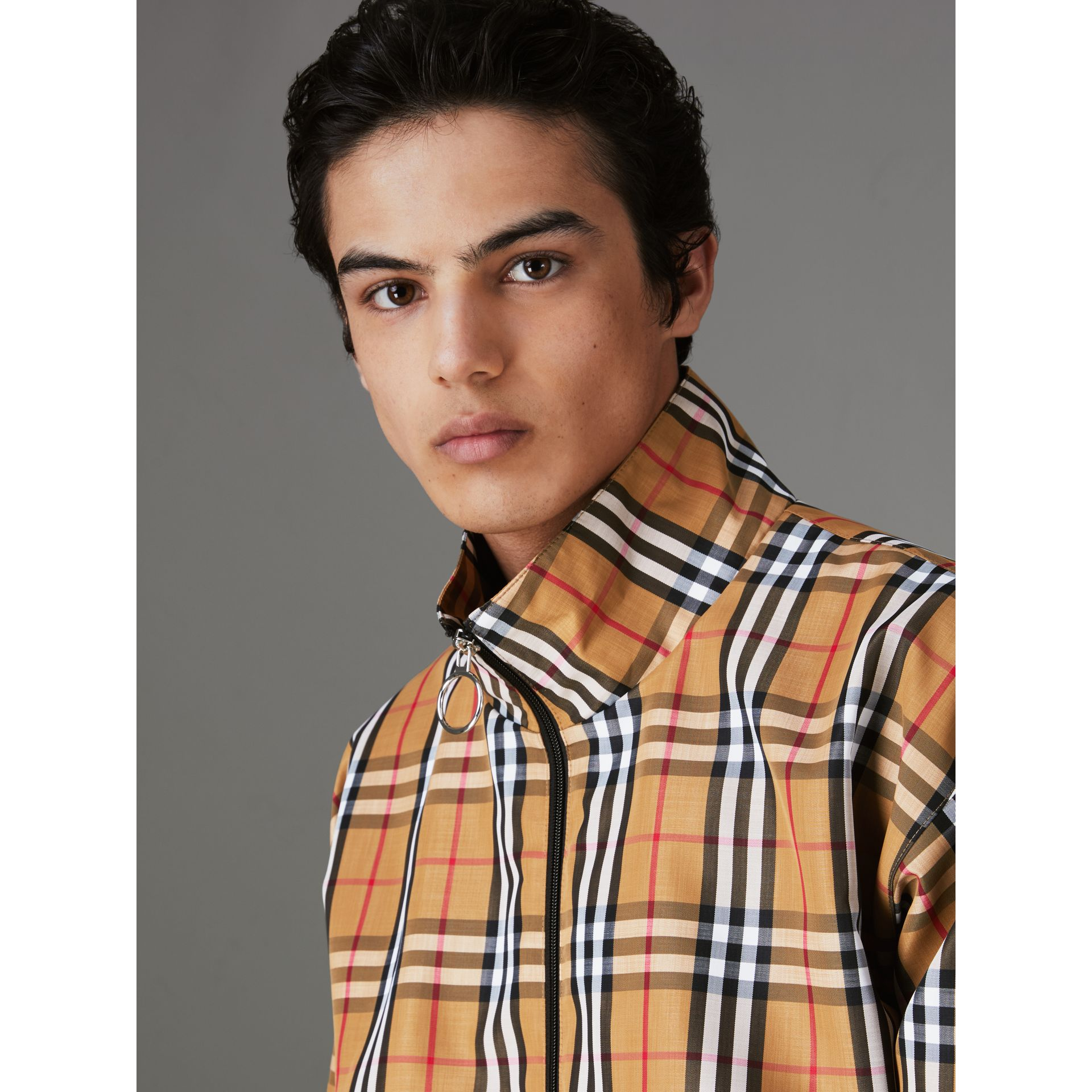 Vintage Check Lightweight Jacket in Yellow - Men | Burberry Singapore - gallery image 1