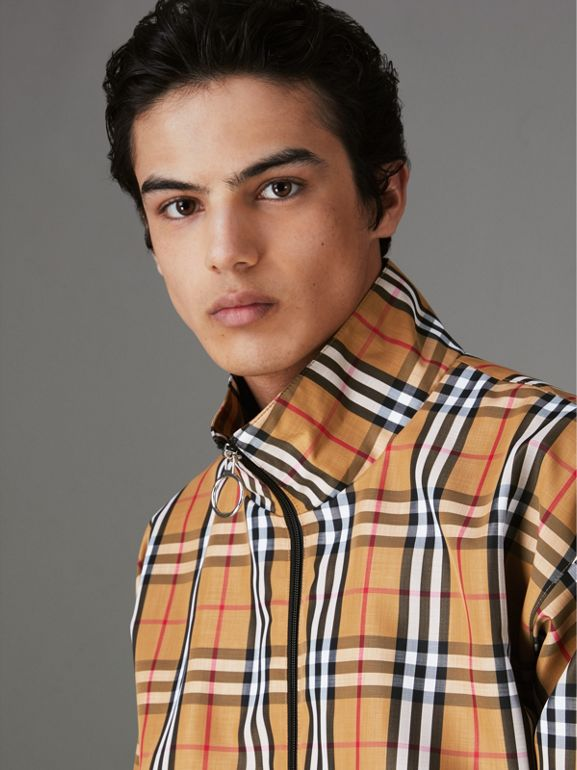Vintage Check Lightweight Jacket in Yellow - Men | Burberry United Kingdom - cell image 1