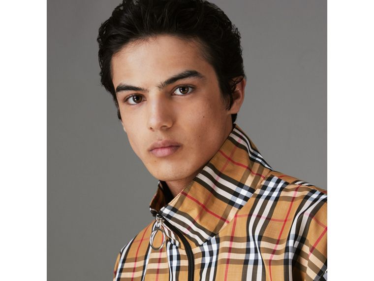 Vintage Check Lightweight Jacket in Antique Yellow - Men | Burberry - cell image 1