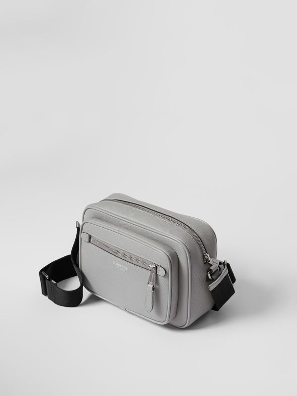 Grainy Leather Crossbody Bag in Cloud Grey | Burberry United Kingdom - cell image 3