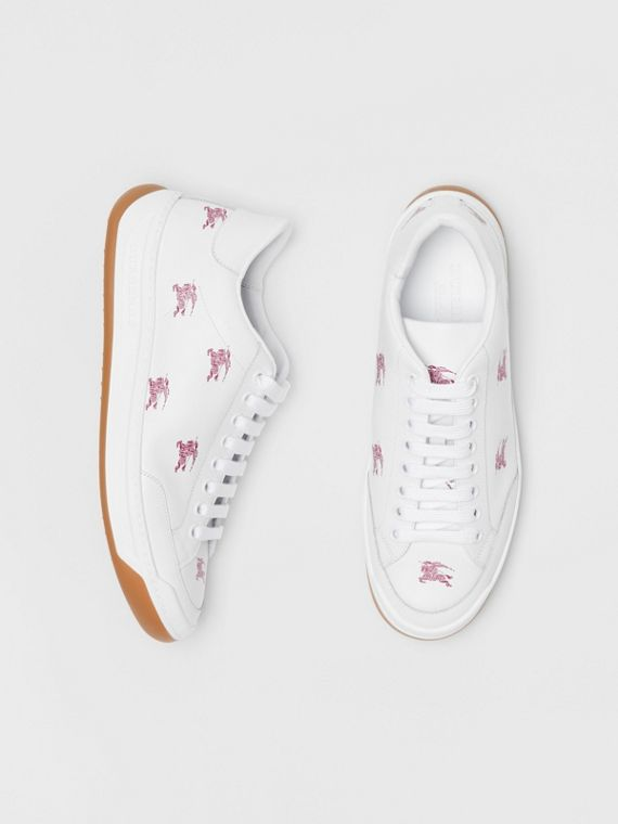 EKD Leather Sneakers in Antique Ruby