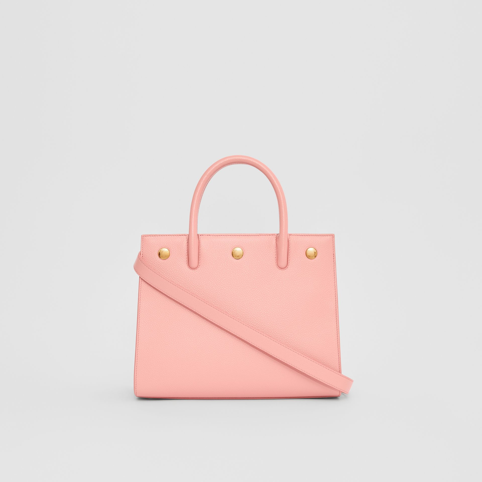 Mini Leather Two-handle Title Bag in Blush Pink - Women | Burberry United Kingdom - gallery image 7