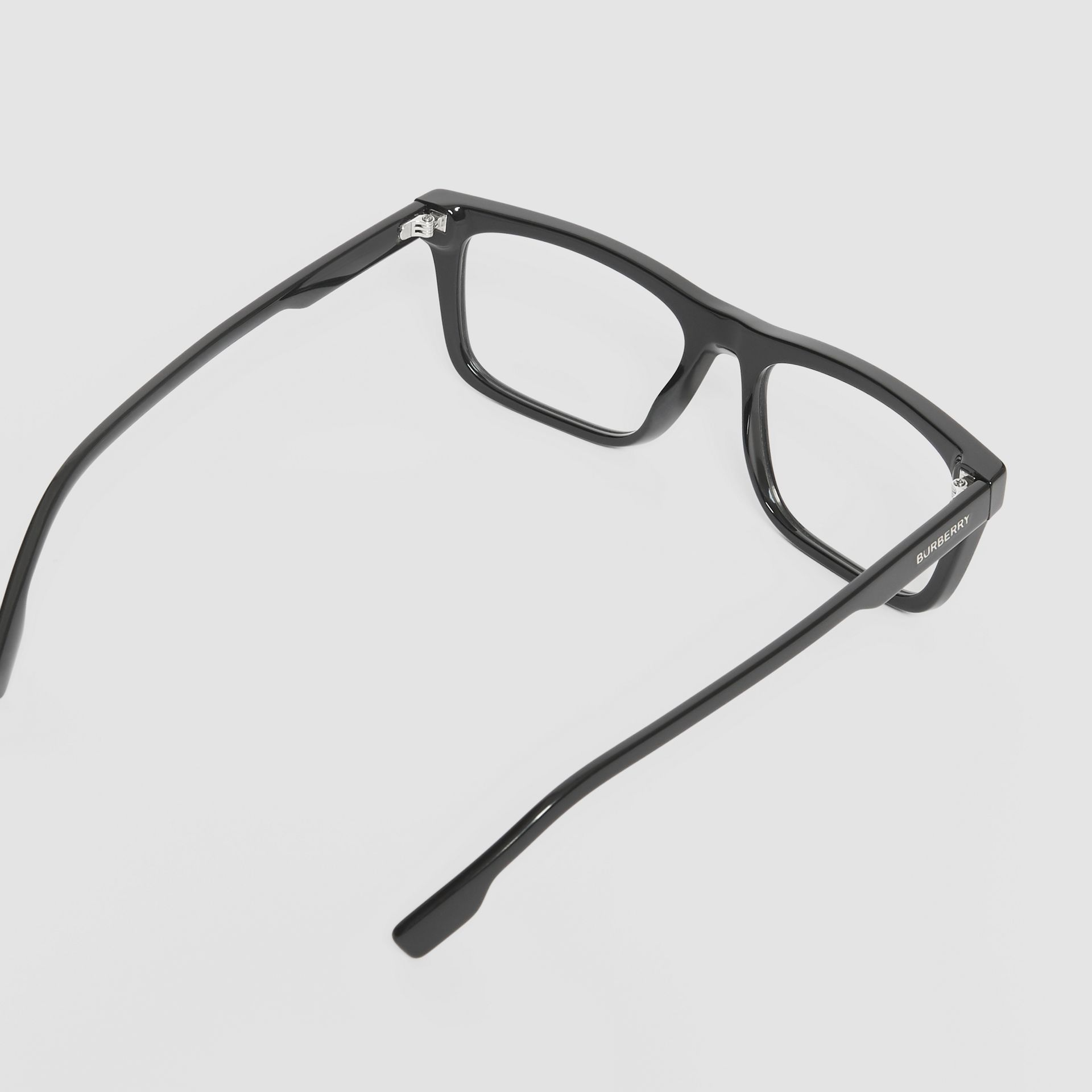 Rectangular Optical Frames in Black - Men | Burberry Hong Kong S.A.R - gallery image 4