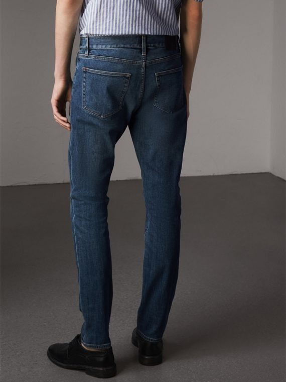 Slim Fit Japanese Denim Jeans - Men | Burberry - cell image 2