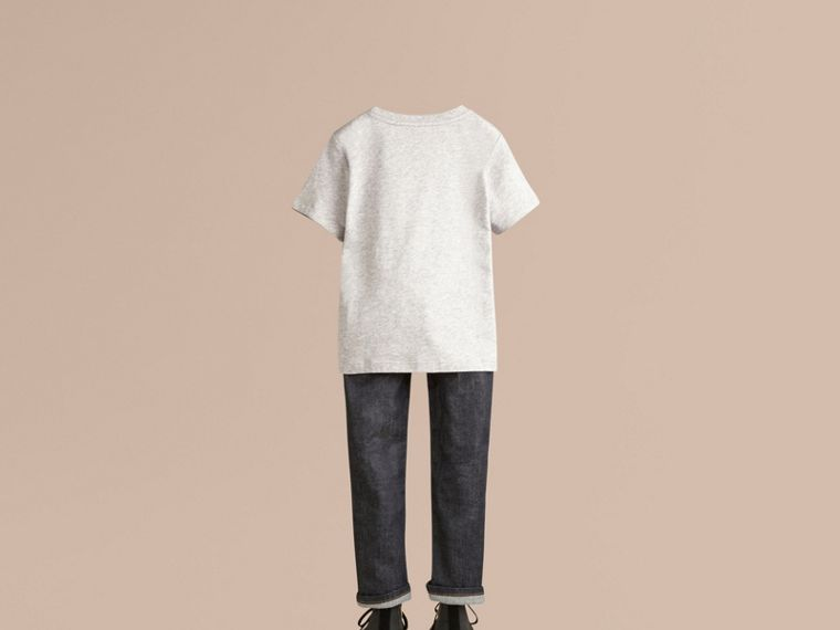 Grey melange Check Pocket T-Shirt - cell image 2