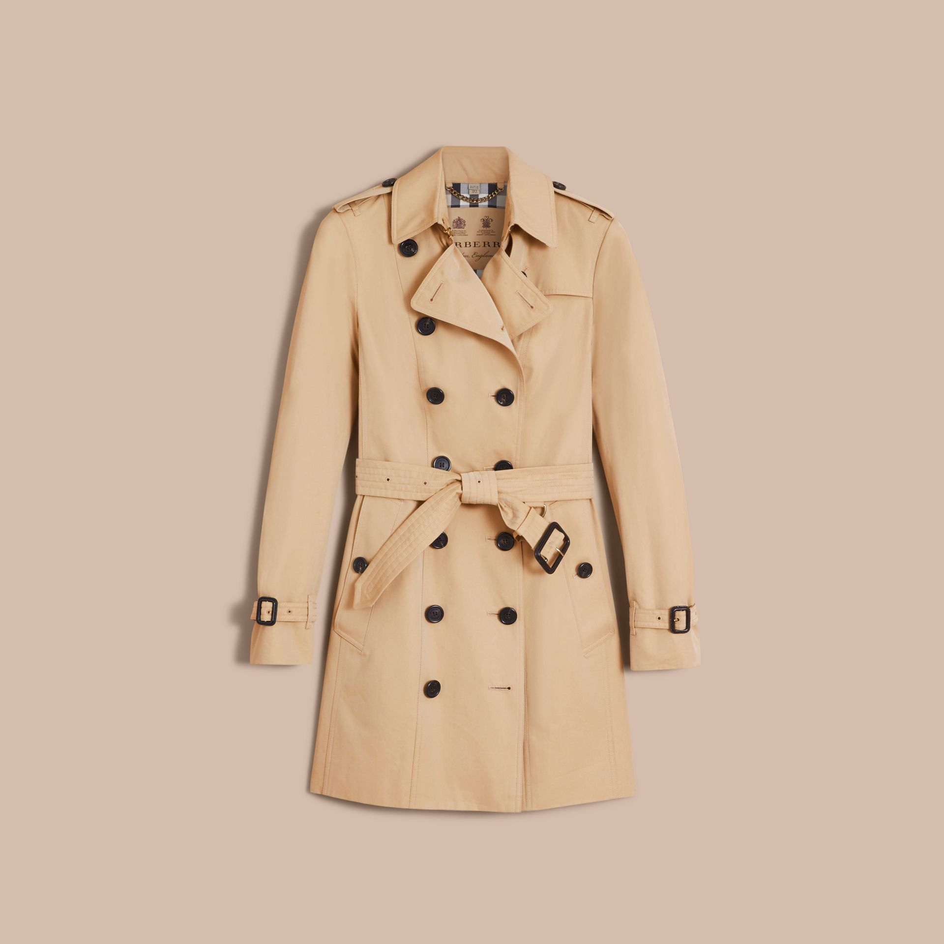 The Sandringham – Mid-Length Heritage Trench Coat Honey - gallery image 4