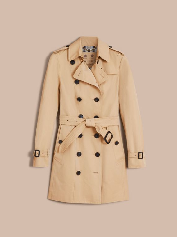 The Sandringham – Mid-Length Heritage Trench Coat in Honey - cell image 3