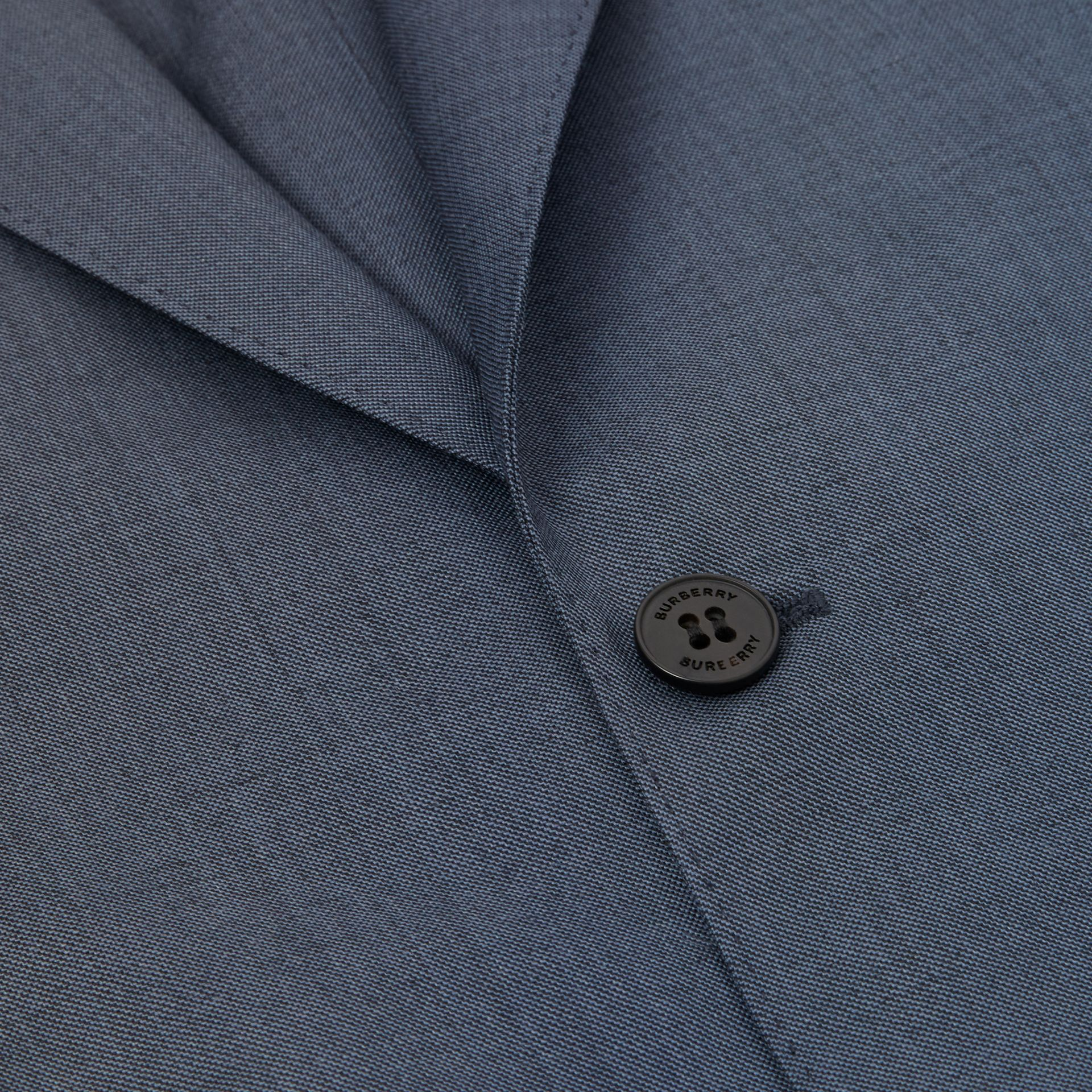 Classic Fit Wool Mohair Blend Three-piece Suit in Steel Blue - Men   Burberry United States - gallery image 10