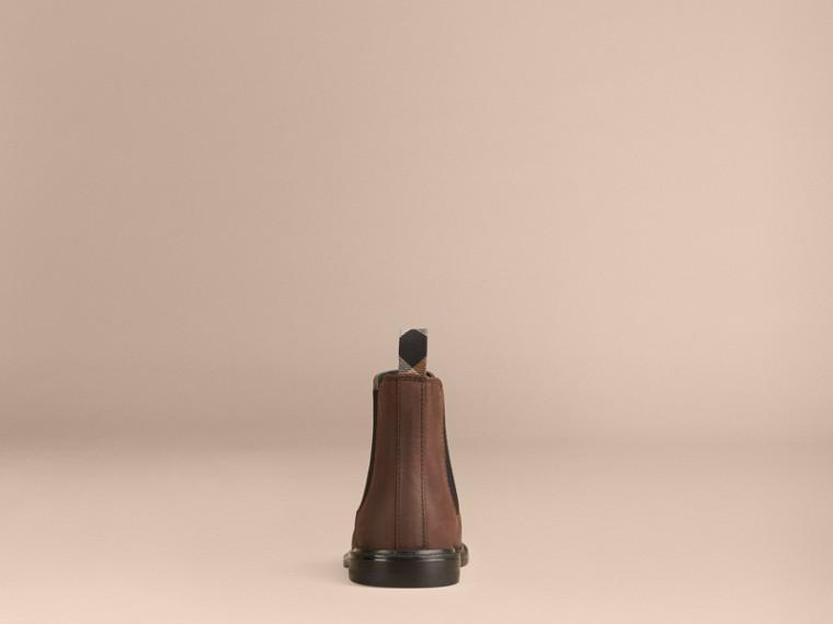 Edelschokoladenbraun Chelsea-Stiefel aus Leder - cell image 1