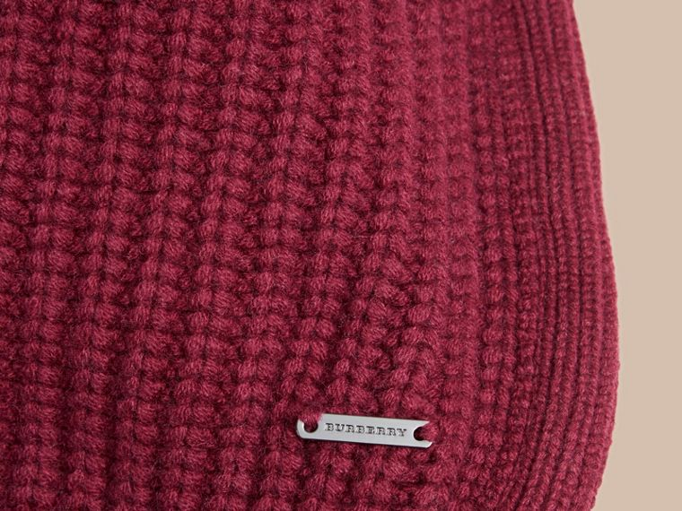 Deep claret Knitted Cashmere Cushion Cover Deep Claret - cell image 1