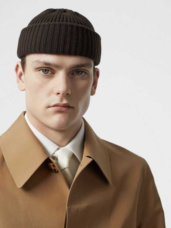 Double-faced Cotton Silk Car Coat in Camel - Men | Burberry - cell image 1