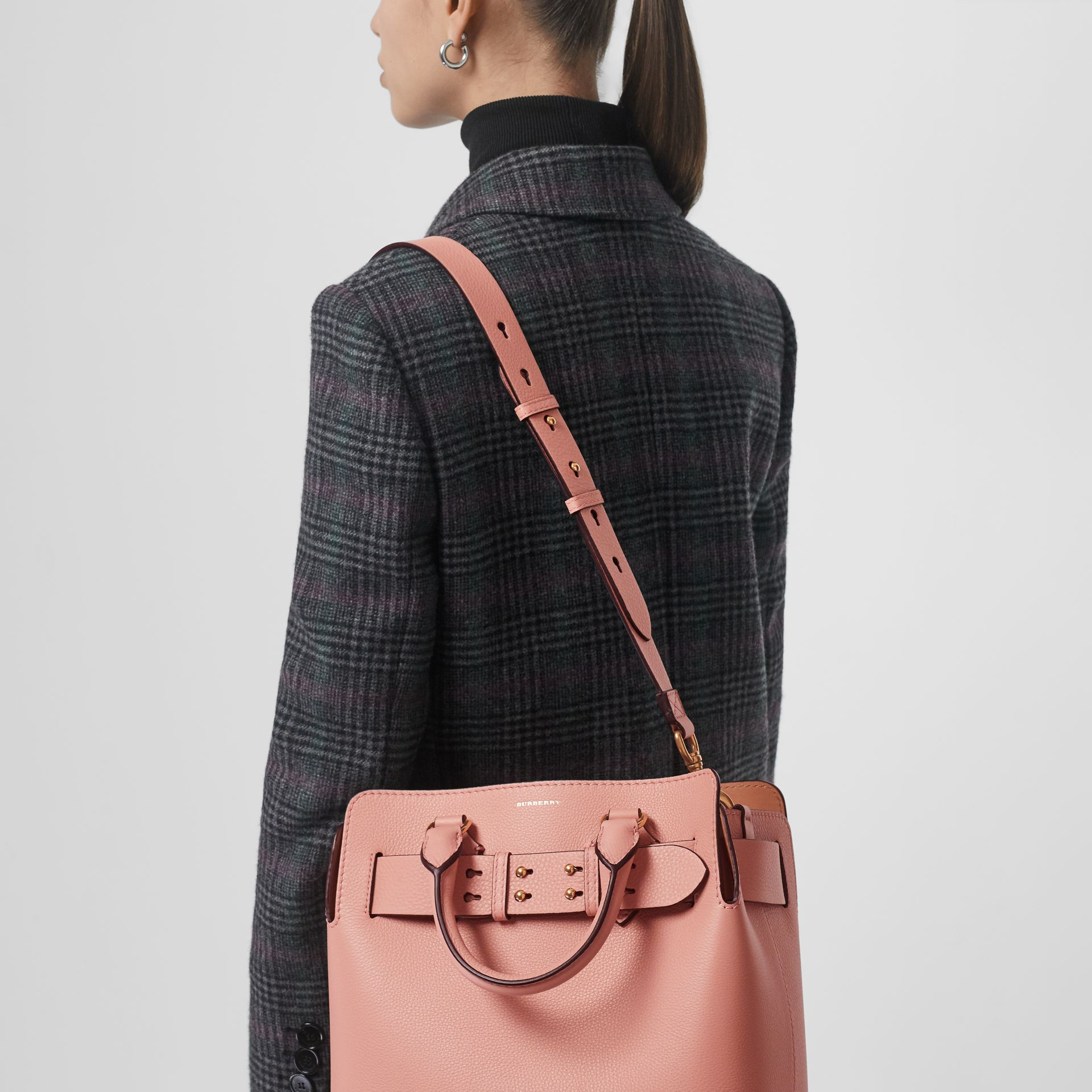 The Small Leather Belt Bag in Ash Rose - Women | Burberry - gallery image 3