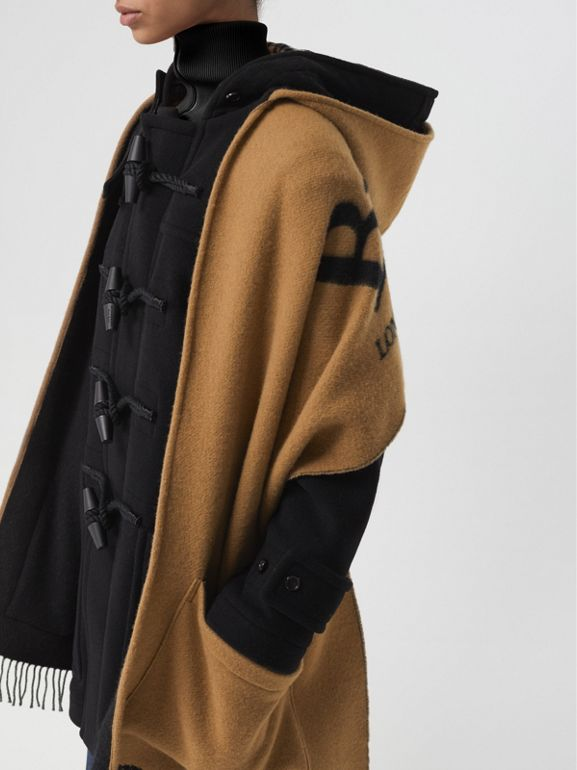 Wool Blend Duffle Coat in Black - Women | Burberry Hong Kong - cell image 1