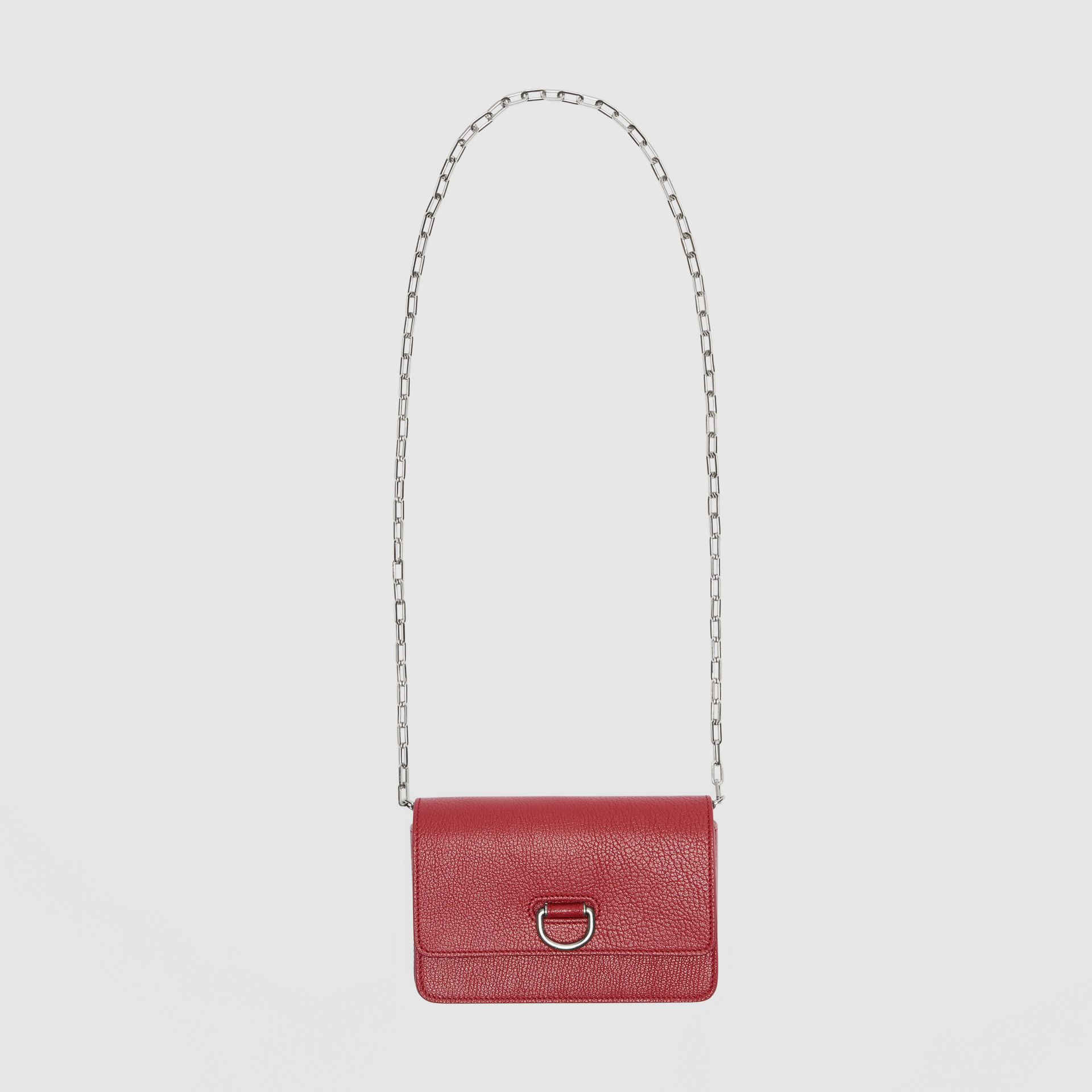 The Mini Leather D-ring Bag in Crimson - Women | Burberry Australia - gallery image 4