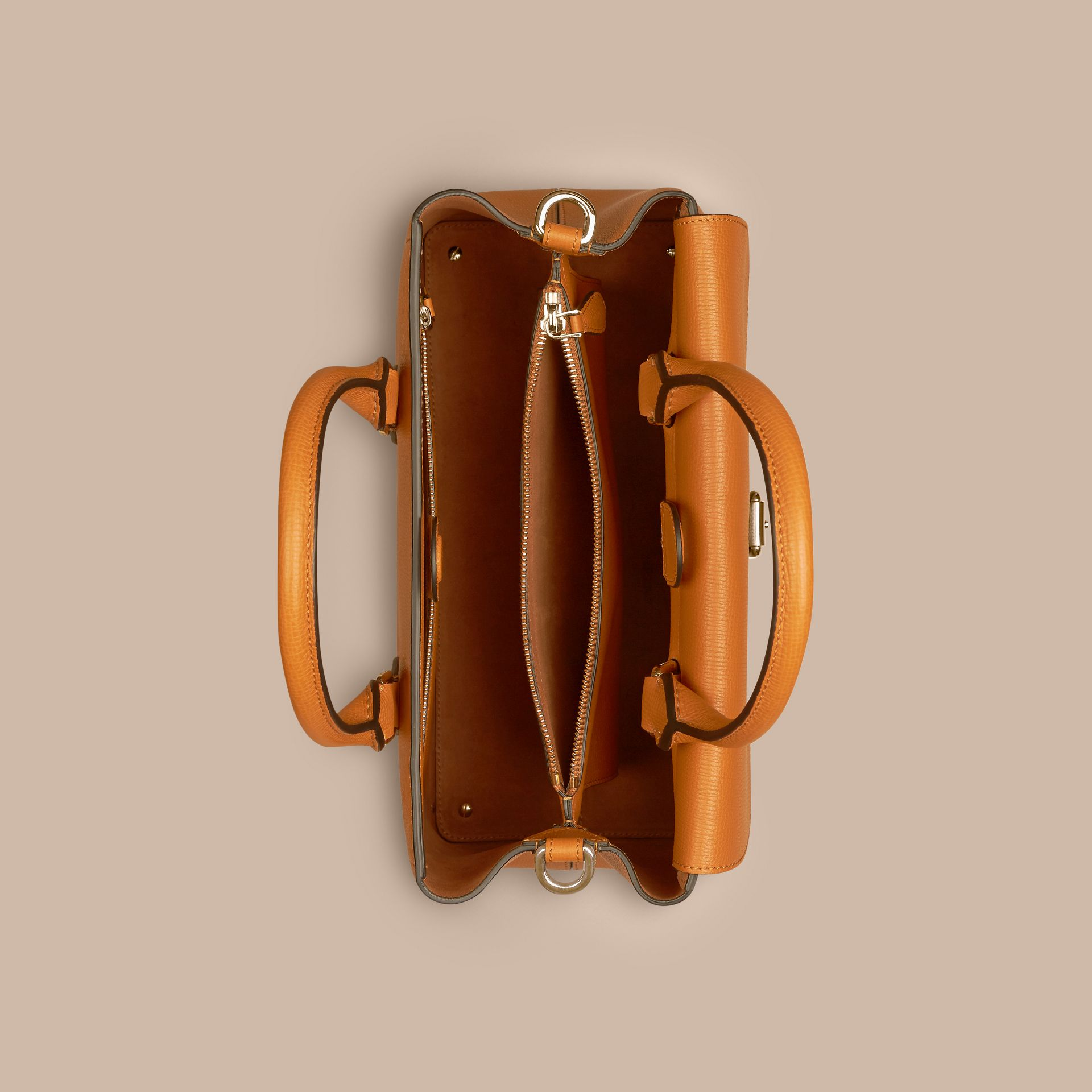 Cognac The Medium Saddle Bag in Grainy Bonded Leather Cognac - gallery image 5
