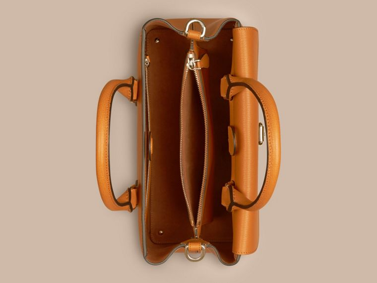 Cognac Borsa The Saddle media in pelle a grana doppiata Cognac - cell image 4