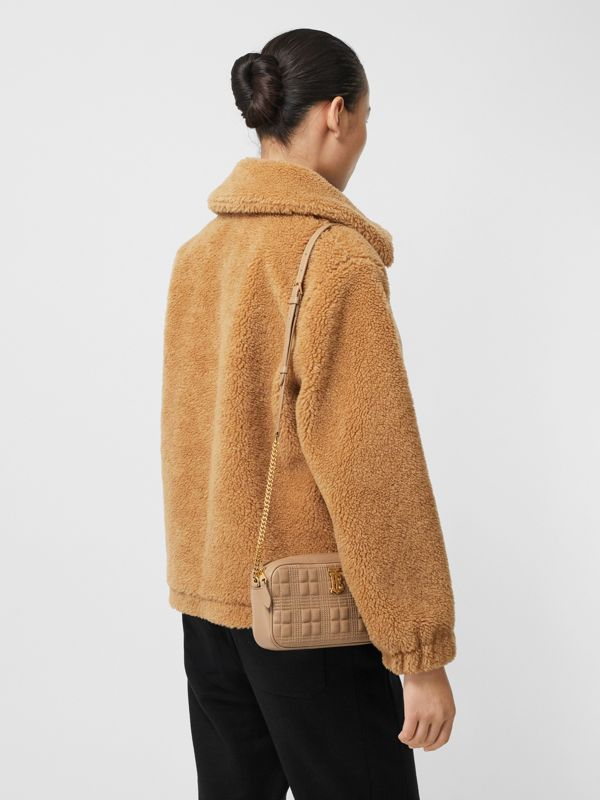 Quilted Lambskin Camera Bag in Camel - Women | Burberry - cell image 2