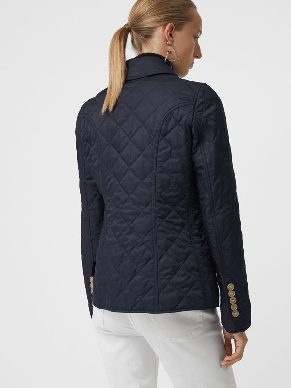 Diamond Quilted Jacket in Navy - Women | Burberry United Kingdom - cell image 2
