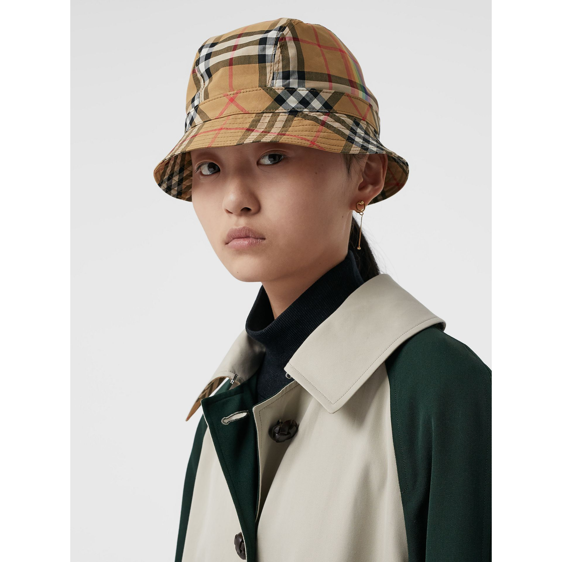 Vintage Check Bucket Hat in Antique Yellow/rainbow | Burberry United States - gallery image 2