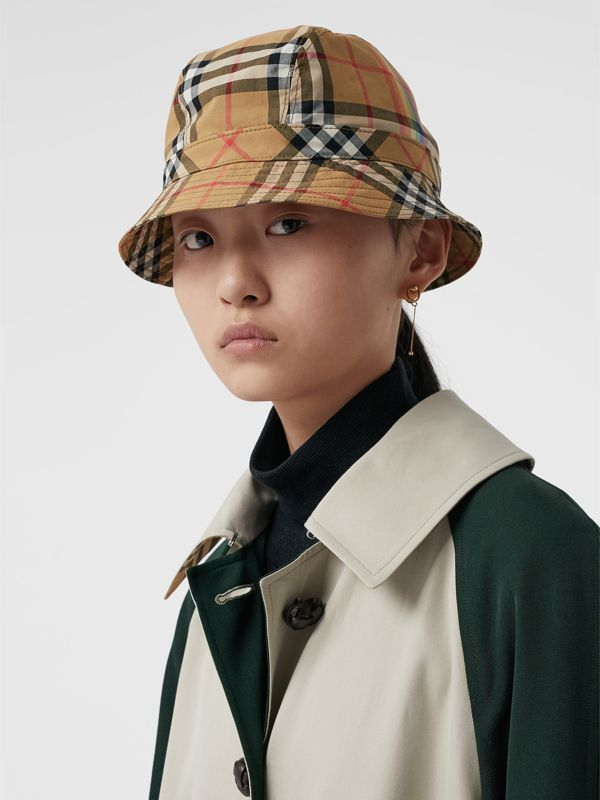 Vintage Check Bucket Hat in Antique Yellow/rainbow | Burberry United States - cell image 2