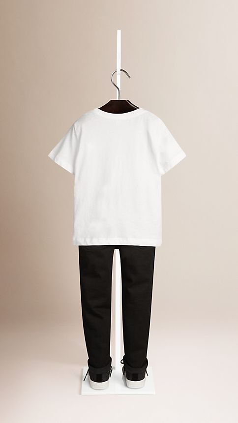 White Check Pocket T-Shirt - Image 2