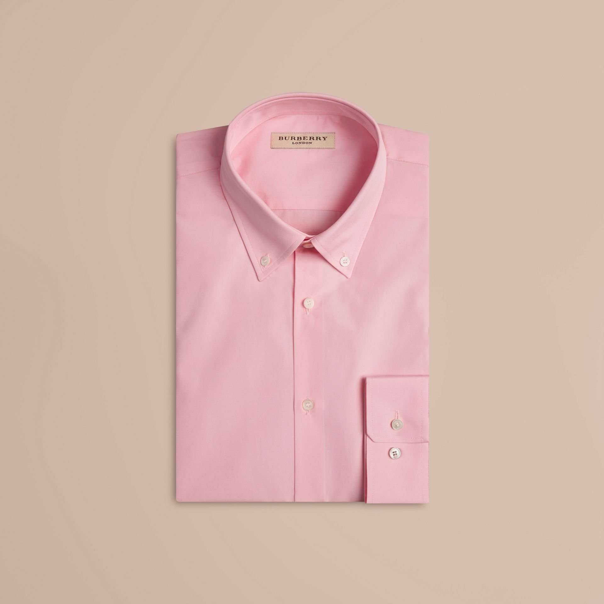 City pink Modern Fit Button-down Collar Cotton Poplin Shirt City Pink - gallery image 4