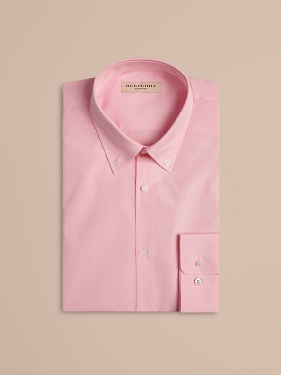 City pink Modern Fit Button-down Collar Cotton Poplin Shirt City Pink - cell image 3