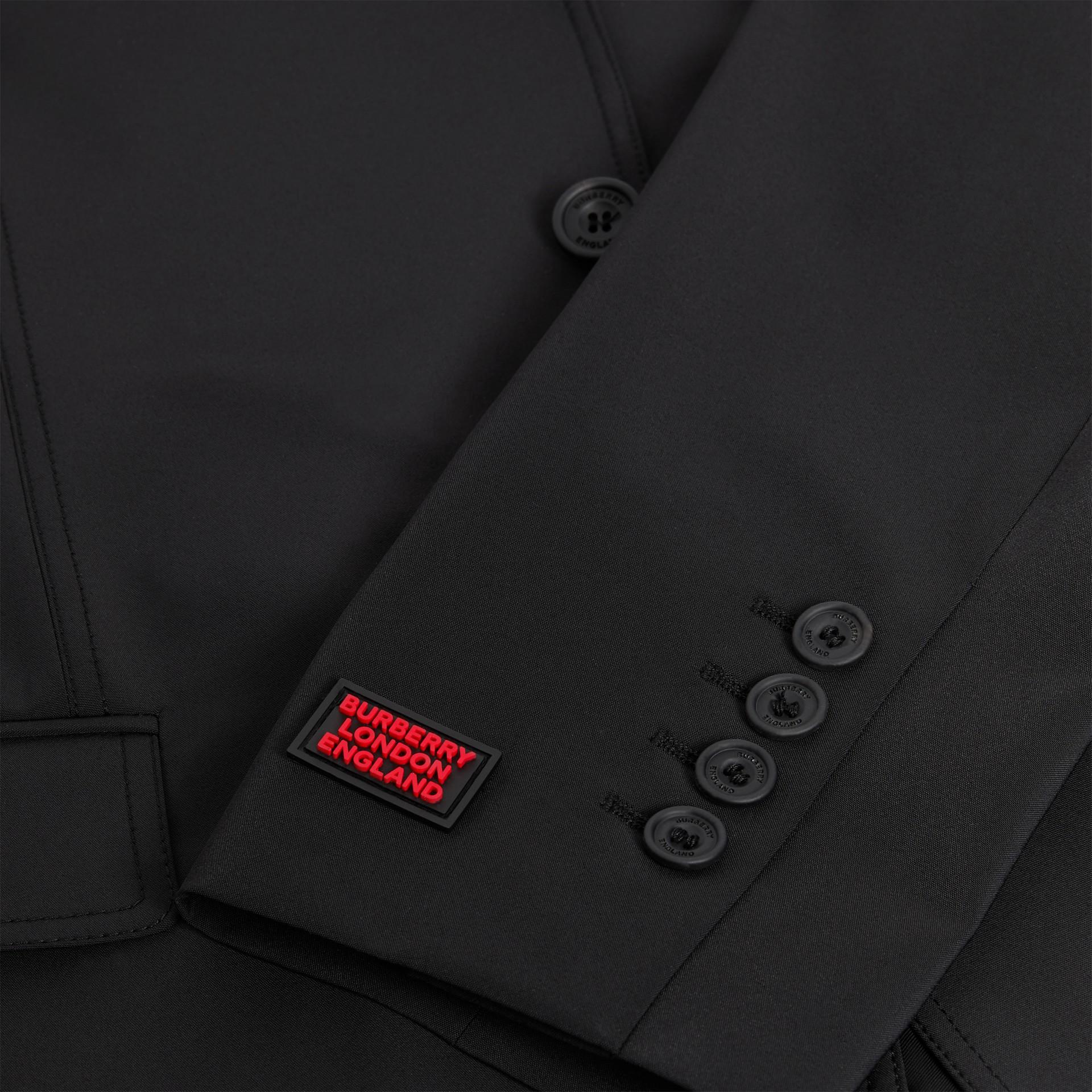 Veste de costume slim en nylon technique (Noir) - Homme | Burberry - photo de la galerie 6
